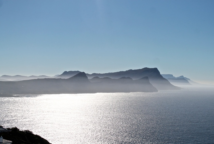 Standing on Cape Point, looking out over False Bay