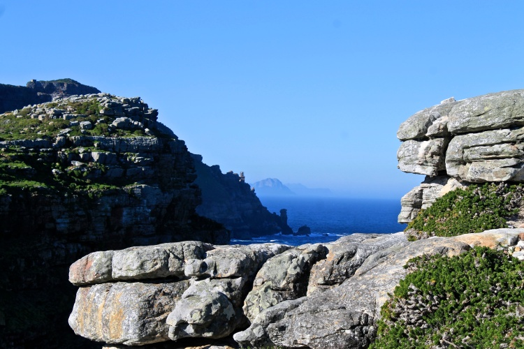 Rock cairns on Cape Point