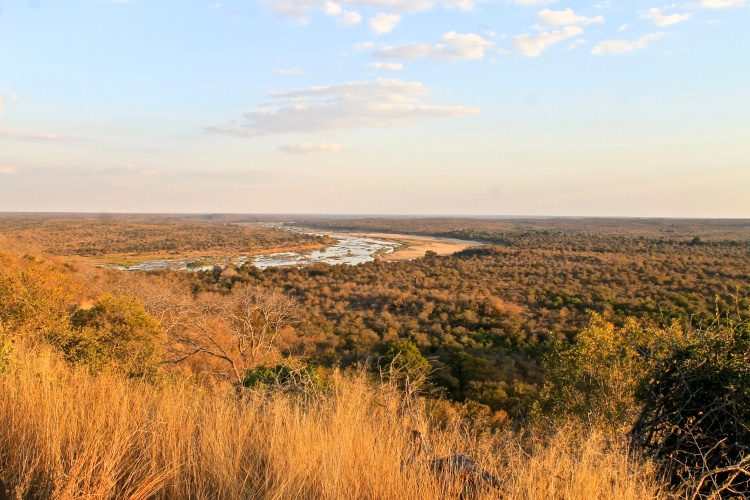 The Olifants river from the hill approaching the camp.