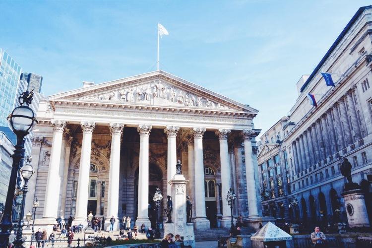 The Royal Exchange at Bank.