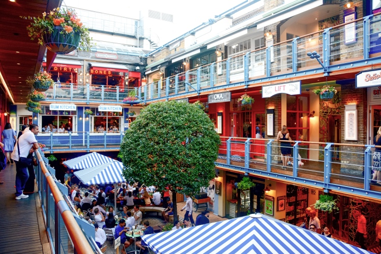 Kingly Court, off Carnaby Street.