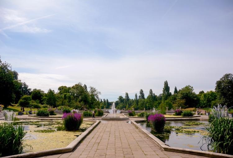 The Italian Gardens, Hyde Park.